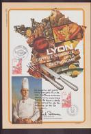 """France, Document De La Poste Du 23 Février 1980 à Paris """" Lyon Capitale De La Gastronomie """" - Documenten Van De Post"""