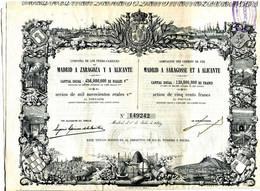 ACTION 1859 Compagnie Des Chemins De Fer Madrid à Saragosse Et à Alicante  ... - Ferrocarril & Tranvías