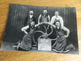 WASMES  ?? BORINAGE:PHOTO 11X16 REPRO DES OUVRIERS DE L'ATELIER DE MODELAGE 1897 - Autres
