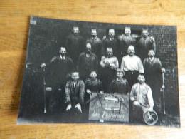 WASMES ?? BORINAGE:PHOTO 11X16 REPRO DES OUVRIERS DE L'ATELIER FOUQUEMBERG -LES TOURNEURS 1897 - Autres