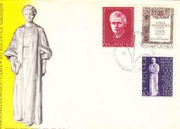 Pologne-Varsovie-1/4/1967-FDC-Premier Jour Des Timbres 1633/1635-Maria Sklodowska Curie - FDC