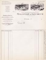 27 EVREUX  FACTURE Tissage De Coutils Tissus MALATIRE & LECOEUR  - X105  EURE - 1900 – 1949