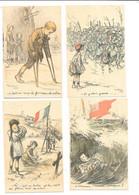 11973 - Lot De 5 CPA Illustrateur POULBOT, Thème Militaire - Poulbot, F.