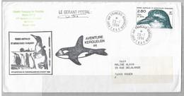 14 - TAAF PO189 Du 23.7.1994. AVENTURE KERGUELEN 44 Signée Gérant Postal (format 120x233) - Cartas