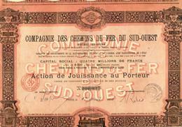 ACTION Compagnie Des Chemins De Fer Du SUD OUEST - Ferrocarril & Tranvías