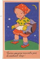 Petite Fille Ayant Peur Du Loup. Petit Chaperon Rouge . Wolf. Little Red Riding Hood . - Andere Illustrators