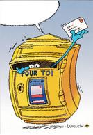 """Carte Postale De Thierry Lamouche Auteur De La Marianne Boite Aux Lettres La Poste """"pour Toi"""" - Francobolli (rappresentazioni)"""