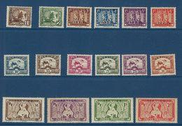 """Indochine Service YT 1 à 16 """" Timbres Surchargés """" 1933 Neuf* - Autres"""
