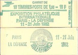 """CARNET 2155-C 2 Sabine De Gandon """"PHILEXFRANCE 82"""" Daté 19/10/81 Conf. 3 Fermé Bas Prix Parfait état RARE - Uso Corrente"""