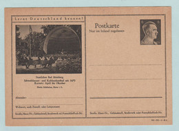 Reich, S.S., Obertcommando Der Wehrmacht, Postkarte Deutches Reich - Enteros Postales