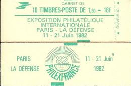 """CARNET 2155-C 3 Sabine De Gandon """"PHILEXFRANCE"""" Daté 10/8/81 Fermé. Parfait état Bas Prix RARE - Uso Corrente"""