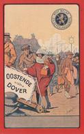 Oostende - Dover  Opdruk 15 Cent  ???? - Comercio