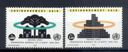 Nations Unies Genève 1993 - Y & T N. 247/48 -  Organisation Mondiale De La Santé (Michel N. 231/32) - Unused Stamps