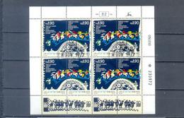 ISRAEL 1990  SHEET INTERNATIONAL FOLKLORE FESTIVAL USED . COTE MICHEL 70 EUR0 - Oblitérés (avec Tabs)