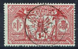 Nouvelles-Hébrides, 1p Rouge Monnaie Anglaise, 1911, Obl, TB Joli Cachet De Port-Vila - Used Stamps