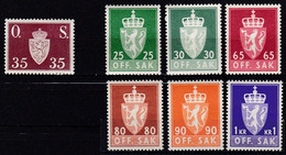 NO655 – NORVEGE - NORWAY - OFFICIAL – 1952→1968 – Y&T # 64→87 MNH 16,65 € - Officials