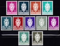 NO656 – NORVEGE - NORWAY - OFFICIAL – 1969→1973 – MI # 68y→87y MNH 43,80 € - Officials