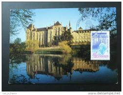 Carte Maximum Card Abbaye Abbey Solesmes Nord - Kirchen U. Kathedralen