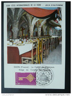 Carte Maximum  (maximum Card) Fête De La Vigne Wine Festival 1968 Dijon - Wein & Alkohol