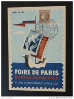 Carte Maximum Maximum Card Foire De Paris 1947 - 1940-49