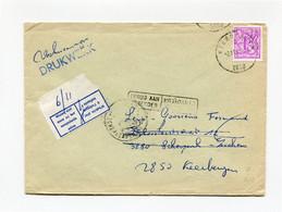 1981 Verkiezingsdrukwerk Enveloppe Van Keerbergen Naar Zichem - Retour Stempels Zichem (BT) 1 - Scherpenheuvel 1 - Cartas