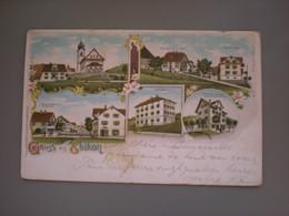 EBIKON 1902 - GASTHOF ZUM LOEWEN - SPECEREIHANDLUNG GRETER HERZOG - LITHO SCHMID - LU Lucerne