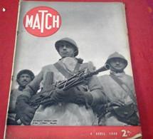 Match 4 Avril 1940 WW2 Phalsbourg Ville Du Front,Guerre Finlande,Lord Halifax,Hôtel Continental,Patrouilleurs Marocains - 1900 - 1949