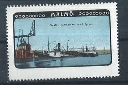 Schweden Malmö - Alte Reklamemarke - Vignette - Cinderella Stamp - 3 - Sonstige