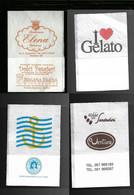 Tovagliolino Da Caffè - Lotto 4 Pezzi N. 16 - Company Logo Napkins