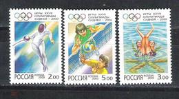 RUSSIE/RUSSIA/RUSSLAND/ROSJA 2000 MI.842-44** ,ZAG.610-12 ,YVERT .6490-92 - Unused Stamps