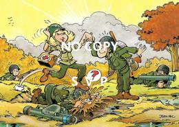 01002 HUMOUR MILITAIRE - ILLUSTRATEUR JEAN-POL // DOS DIVISE // NON ECRITE - Humor