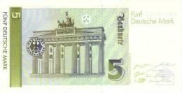 GERMANY FEDERAL REPUBLIC P. 37 5 M 1991 UNC - 5 DM