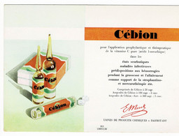 Buvard Cebion - Droguerías