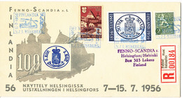 Finland Registered Cover FINLANDIA 56 S/S J. L. Runeberg 11-7-1956 Very Nice Cover With Cachet - Cartas