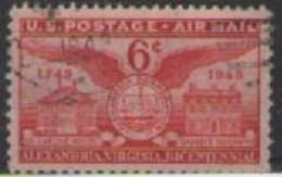 STATI UNITI D'AMERICA POSTA AEREA 1949  BICENTENARIO DELLA FONDAZIONE DI ALEXANDRIA UNIF. A40 USATO VF - 2a. 1941-1960 Usados