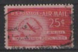 STATI UNITI D'AMERICA POSTA AEREA 1949 ANNIVERSARIO DELLA FONDAZIONE U.P.U. UNIF. A44 USATO VF - 2a. 1941-1960 Usados