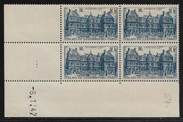FRANCE N°760** PALAIS DU LUXEMBOURG COIN DATE DU 6/1/1947 - 1940-1949