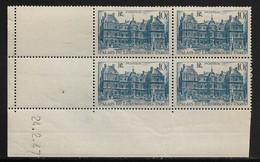 FRANCE N°760** PALAIS DU LUXEMBOURG COIN DATE DU 24/2/1947 - 1940-1949
