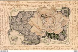 ILLUSTRATEUR Léopold  LELÉE ........ Femme Fleur N°4  ....... Art Nouveau Surréalisme - Altre Illustrazioni