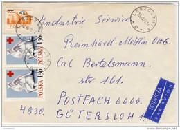 Poland - Luftpost, Airmail,  Leszczyn Nach Gütersloh - 1971 - Refb3 - Flugzeuge