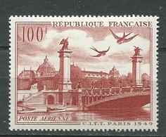 France  Poste Aérienne Yvert N° 28 * Trace De Charnière Légère  -  Pla 4305 - 1927-1959 Mint/hinged