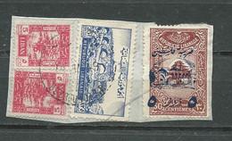 Grand Liban   Maury  N° 201 Oblitéré Sur Fragment ( Crayon De Bois ) +liban Yvt 38, 25x2 - (v 14/11/1949) Pla 4307 - Used Stamps