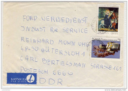Poland - Luftpost Nach Gütersloh - 1977,  Nice Stamp - Refb3 - Flugzeuge