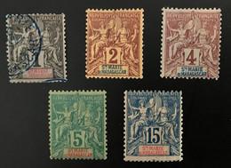 SAINTE MARIE MADAGASCAR - Lot YT 2 - 3 - 4 - 6 NEUF* / MH Et YT 1 Oblitéré - RARE - CV 71 EUR - Unused Stamps