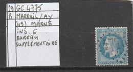 N° 29 B  -  GC 4775   MAREUI -sur-AY  (49) MARNE - REF 10009 - 1863-1870 Napoléon III Lauré