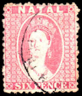 Natal 1863-65 6d Lilac Very Fine Used - Natal (1857-1909)