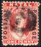 Natal 1870-73 1d Bright Red Fine Used. - Natal (1857-1909)