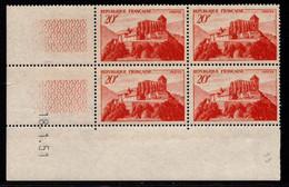 FRANCE N°841A** COMMINGES COIN DATE DU 18/1/1951 - 1940-1949