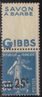 France 1926/27 Yvert 217b Neuf** MNH (AF74) - Ongebruikt