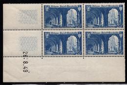 FRANCE N°842** SAINT WANDRILLE COIN DATE DU 26/8/1949 - 1940-1949
